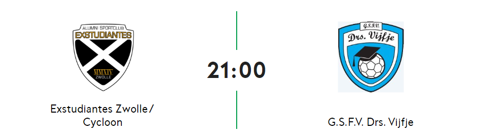Kwartfinale landelijke beker: VR1 - Ex. Zwolle
