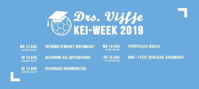 KEI-week programma Vijfje bekend!